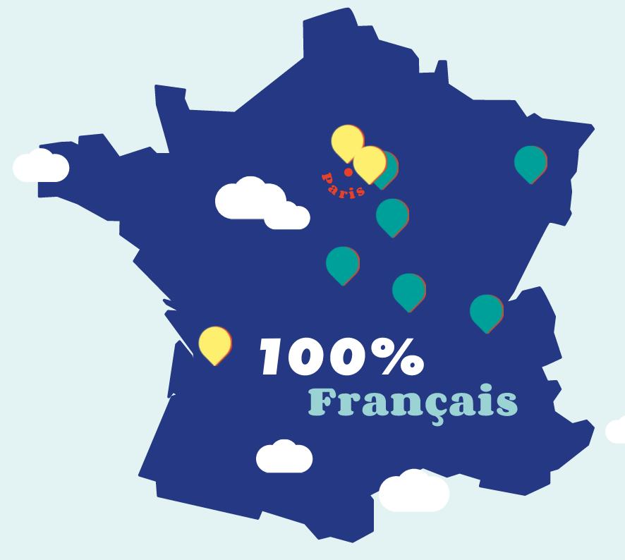 Carte de France des sites de productions Gobi
